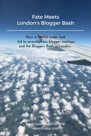How a fateful water leak led to serendipitous blogger meetups and the Bloggers Bash in London.