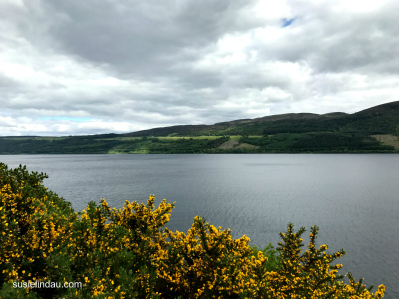 Loch Ness under cloudy skies