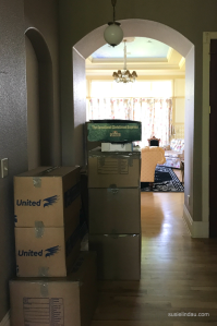 Boxes packed and ready to go
