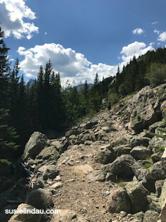 A rocky climb
