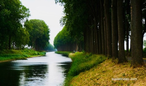 The road to Bruges