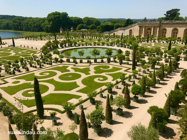 The formal gardens at Versailles