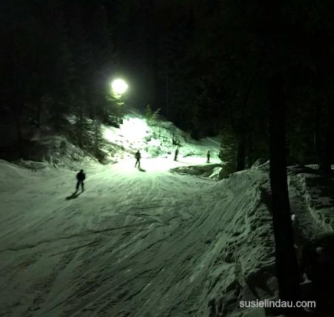 Night skiing at Keystone
