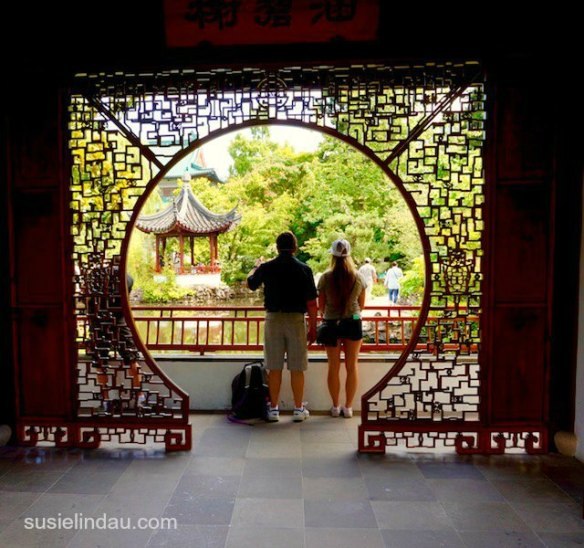 Vancouver Chinese Garden screen