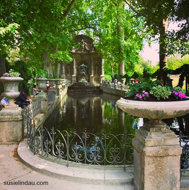 A fountain at the Luxembourg Gardens