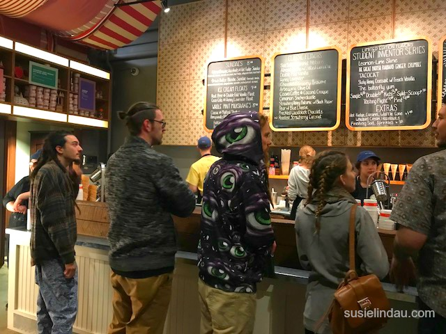 Inside Salt and Straw ice cream shop