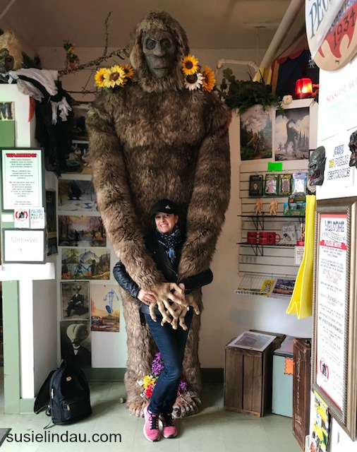 Being hugged by a Yeti in the Peculiarium