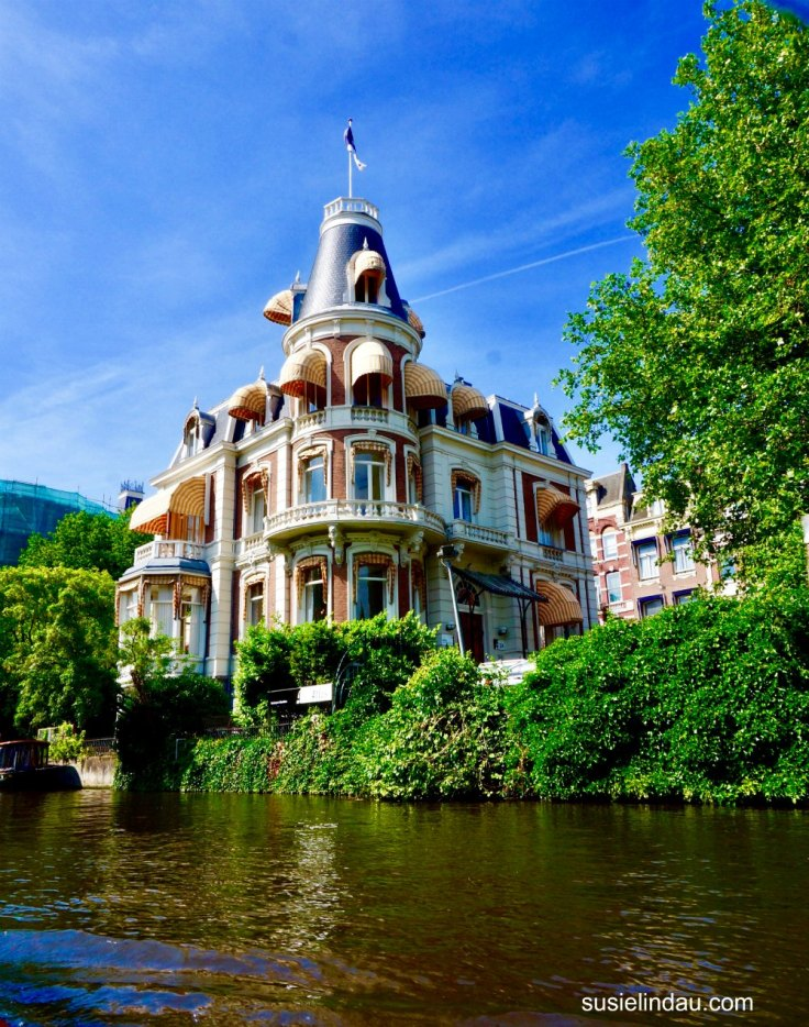 Amsterdam Victorian House on water