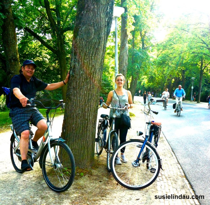 Biking in Vondelpark