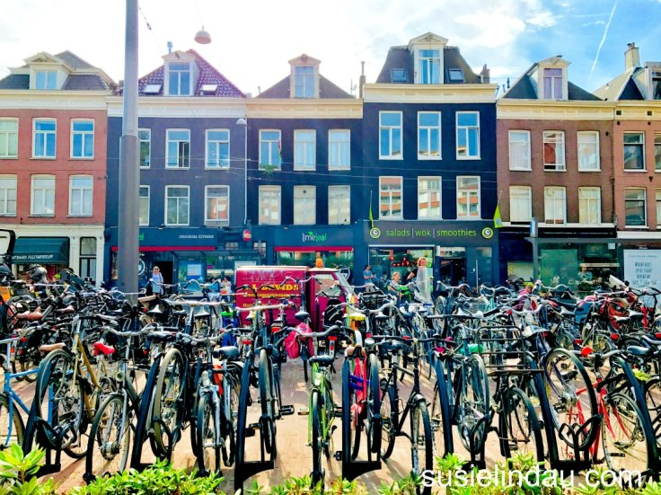 Lots of bikes in Amsterdam