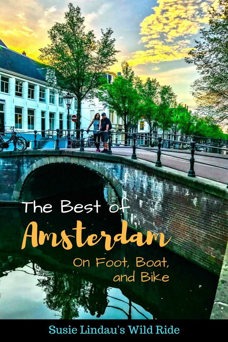 The Best of Amsterdam on Foot, Boat, and Bike. Canal, Travel Europe Destinations, Travel tips, Netherlands, canal tours, biking #Amsterdam #boattours #biking