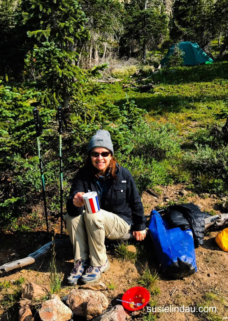 There's nothing better than drinking coffee the morning after camping and backpacking.