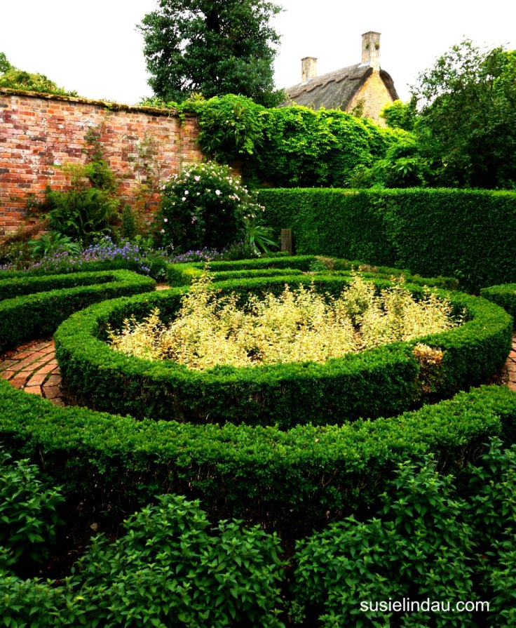 Hidcote Gardens Concentric Ringed Hedges