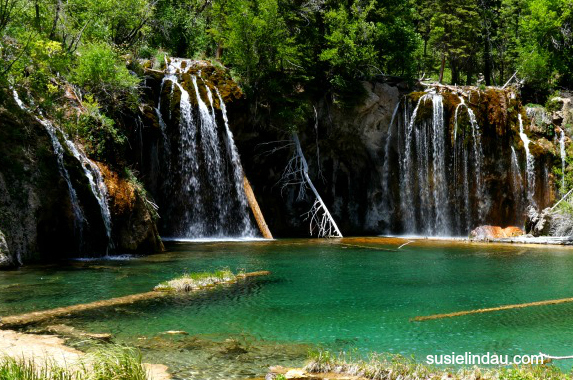 Waterfalls at Hanging Lake! The 1000 feet in elevation are worth every step.