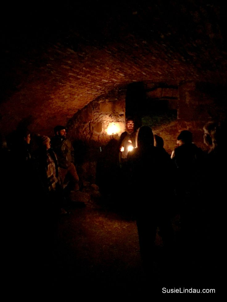 Inside the Edinburgh Vaults on the Mercat Ghost Tour. Click for photos of this amazing place! Photography, Travel Europe Destinations, Travel Scotland, Travel UK, Bucketlist travel #Ghosttours #travel #traveltips #travelscotland #Edinburgh