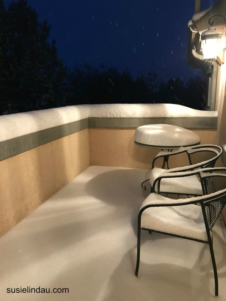Six inches on Deck and Counting! October Snowstorm in Boulder, Colorado. Click for photos! photography, Travel North America #photography #snowstorm #boulder #colorado