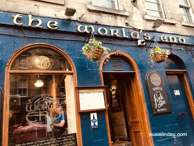 The World's End. One of many inspiring places in Edinburgh that may have inspired JK Rowling and Diana Gabaldon. Click for photos! Travel Europe Destinations, Writing tips, Outlander, Travel Scotland, Harry Potter, Travel tips, Creative writing #Scotland #Travel #writing #books #traveleuropedestinations