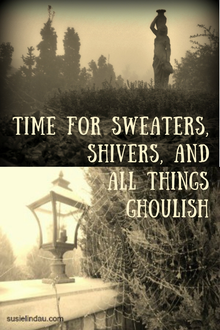 Time for Sweaters, Shivers, and All Things Ghoulish. Click for Halloween ideas and get into the October mood! Halloween Decor #Spookystories #halloween #Ghoulish #October