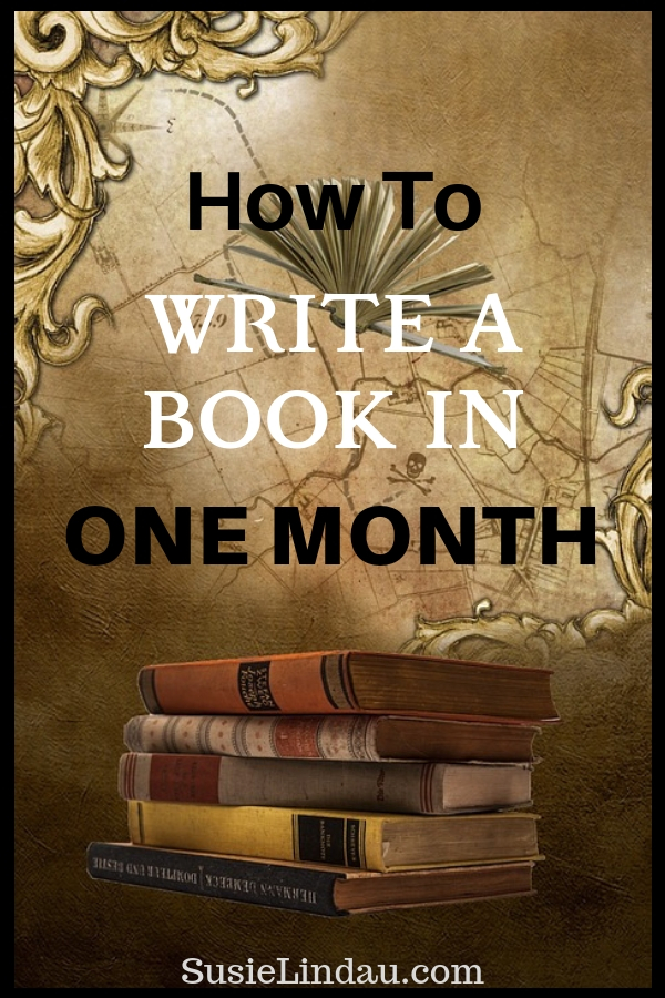 How to Write a Book in One Month