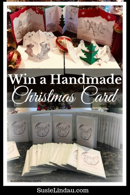 Win a Handmade Christmas Card! Guess what our family is doing this year and win! Tips, Hacks and DIYs, Holiday tips and tricks, Christmas traditions and ideas, illustrations, Art, holiday cards #diy #christmascards #traditions #family #illustration
