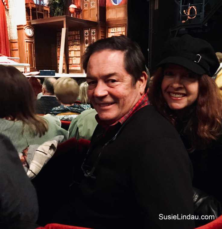 Danny and me at the Play that Goes Wrong after a night that went right at The Savoy in London, England. Click for travel tips and a review! High tea, Things to do in London, Travel Europe Destination, theater, entertainment, and culture, travel photography #theater #entertainment #theplaythatgoeswrongreview #hightea #traveltips