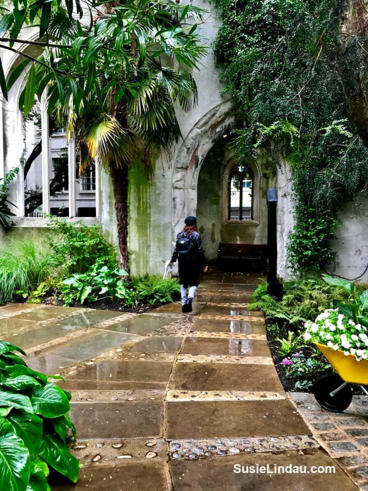 St. Dunston's in London. Entering a secret garden. Click for photos of this magical place! #Gardens #Travel #travelLondon #travelEngland #traveltips