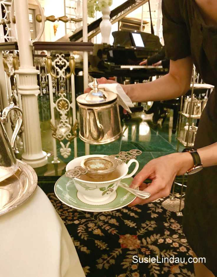 High tea at the Savoy where being pampered is everything. Click for photos of sweet and savory treats and a review of the Play that Goes Wrong! Travel London, England, Europe Destinations, Theater, Entertainment, Restaurants, reviews, Travel tips and advice #thesavoy #thingstodoinLondon #hightealondon #englandtraveltips #traveltips