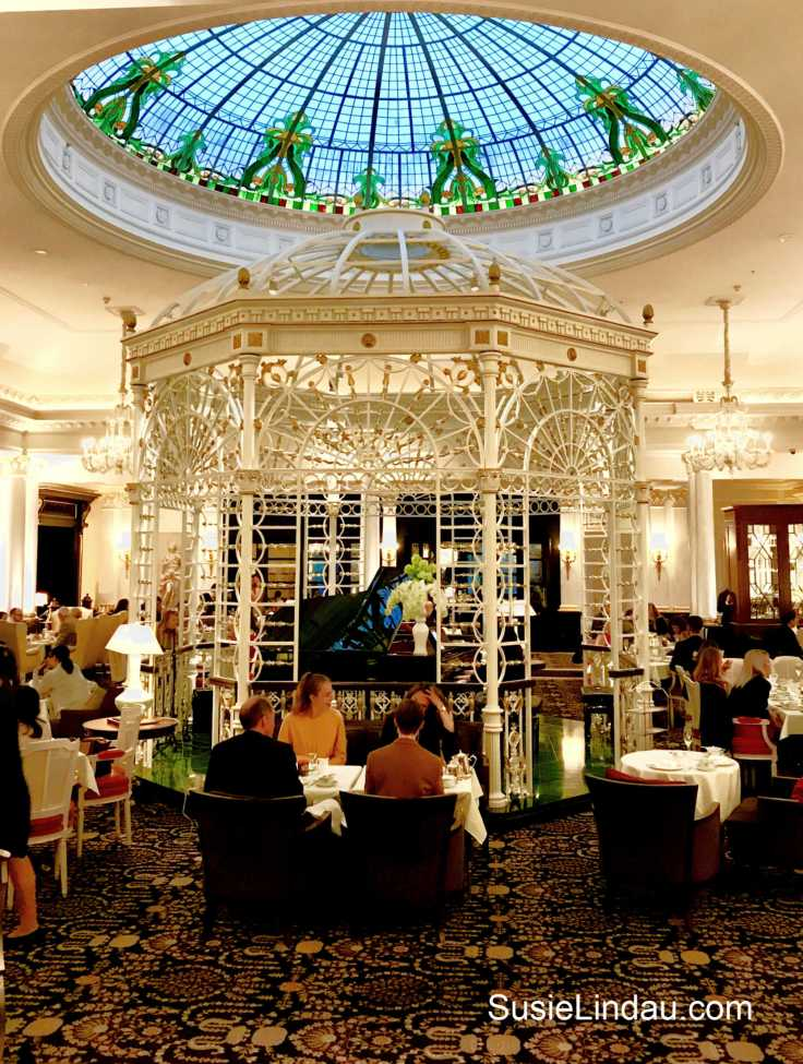 The Savoy for High Tea in London. What a treat before attending The Play that Goes Wrong. Click for photos and a review! Travel England, Travel Europe Destinations, Travel tips and advice #hightea #London #thesavoy #theplaythatgoeswrong #travelLondon