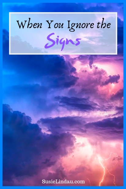 When you ignore the signs even though they're right in front of you! A discussion about horoscopes, Irony, WOTY, and staying on the road to reach your goals! Life lessons, positivity, Motivation, personal growth, self care, wellness, life lessons, live your best life, Susie Lindau's Wild Ride #lifelessons