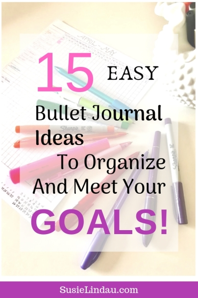 15 Bullet Journal Ideas to Organize and Meet Your Goals! Bullet lists and weekly spreads