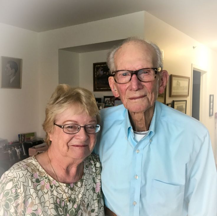 Jo Ann Joslyn and her dad Jim Cram