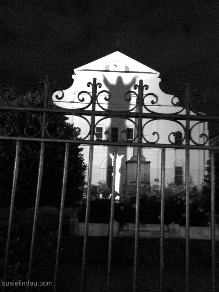 A spooky photo taken on a French Quarter ghost tour. Click for loads of ideas for your next NOLA visit!