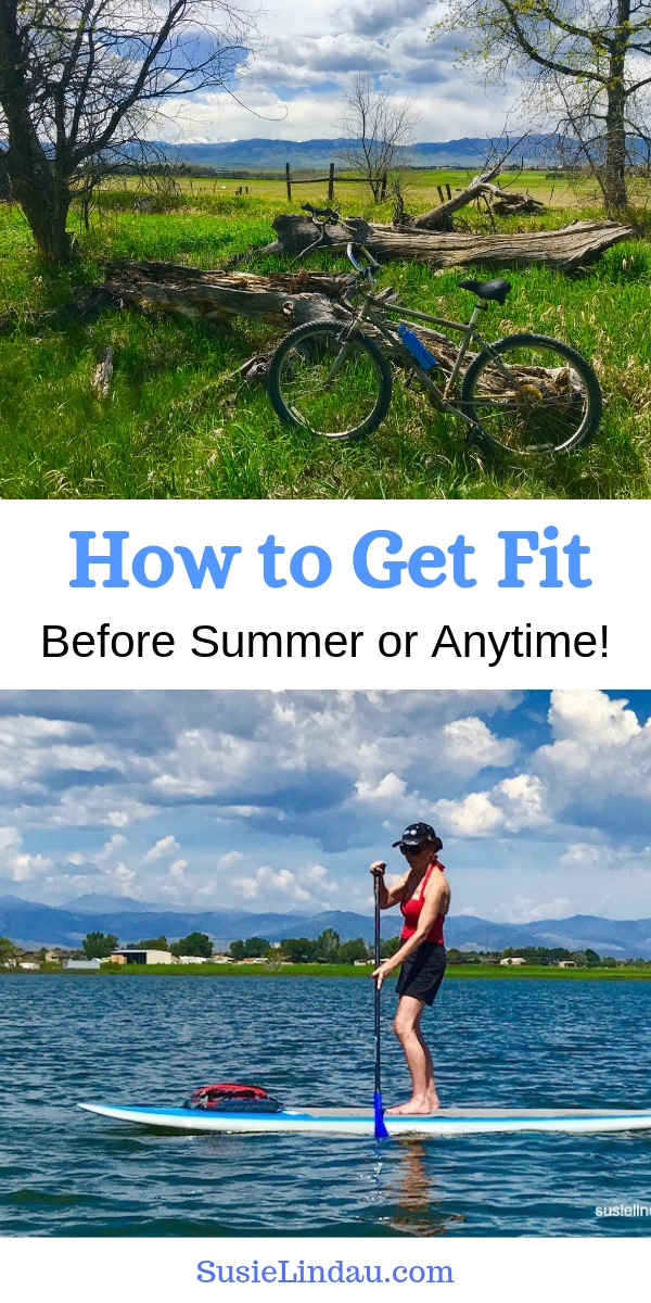 How to Get Fit Before Summer or Anytime! Click for tips and tricks to get into shape by motivating to exercise. Finally! With a little virtual help! Health and fitness | self care | live your best life | life lessons |#fitness | outdoor adventures #health #exercisegoals #fitnessgoals #fitness