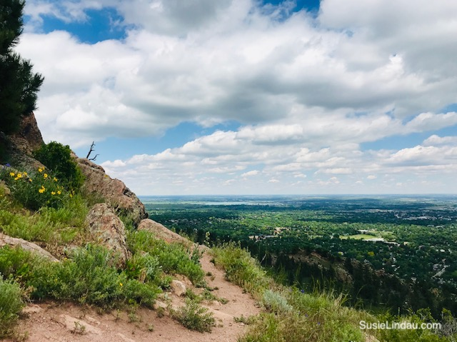A view of Boulder from Mount Sanitas