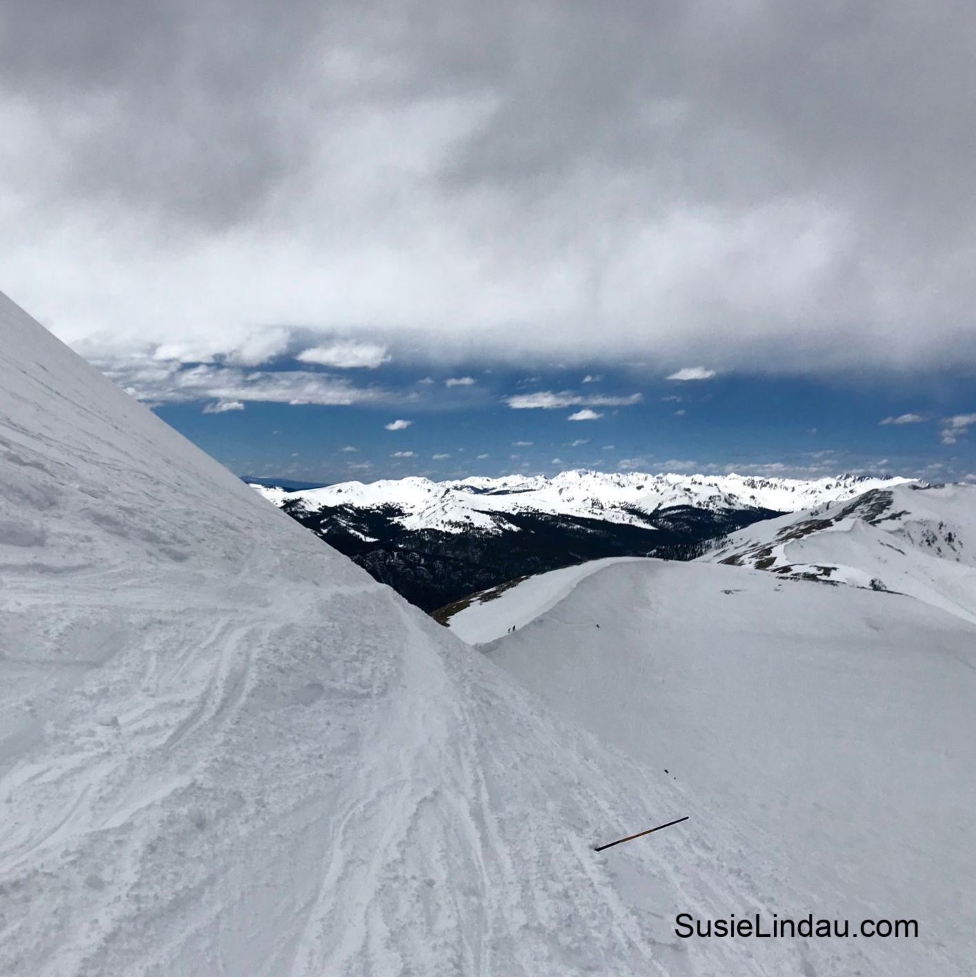 The view from Whales Tail in Breckenridge, Colorado is spectacular, but it is also a double black and most challenging.