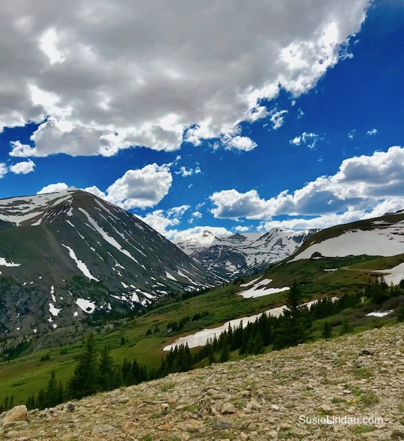 A view of Quandary Peak from Hoosier Pass. Click for photos of this amazing hike!
