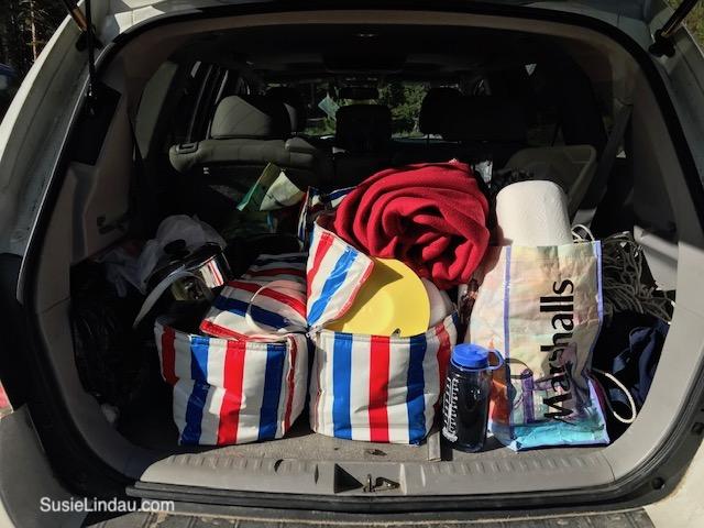 Cadillac camping
