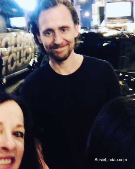 Tom Hiddleston and Susie Lindau