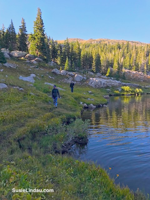 Courtney and Danny hiking around Woodland Lake. Click for photos of this amazing adventure!