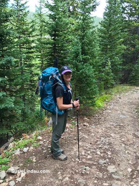 Courtney Lindau hiking Indian Peaks. Click for photographs of this amazing adventure!
