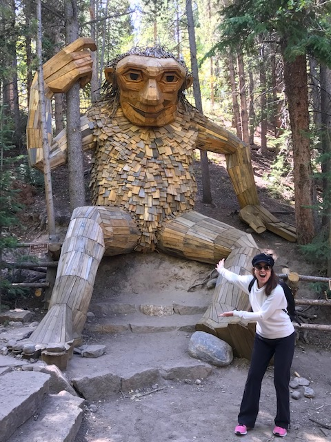 Isak Heartstone the Troll in Breckenridge! Click to find the location of this amazing new attraction! #Breckenridge #Trolls #Colorado #Sculptures #thingstodoinBreckenridge
