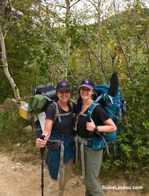 Courtney and Susie returning from Woodland Lake in the Indian Peaks Wilderness. Click for hiking photographs of this amazing adventure!