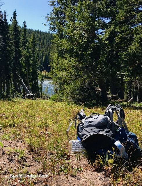 A successful hike to Woodland Lake! I felt that flying feeling after taking off my pack. Click for photos of this amazing adventure!