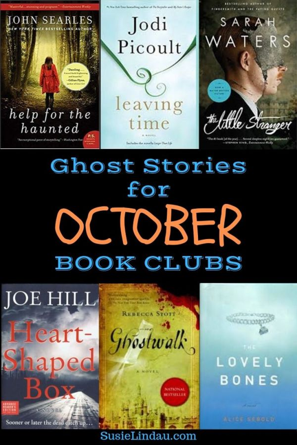 Ghost Stories for October Book Clubs. Photos of books included in blog post