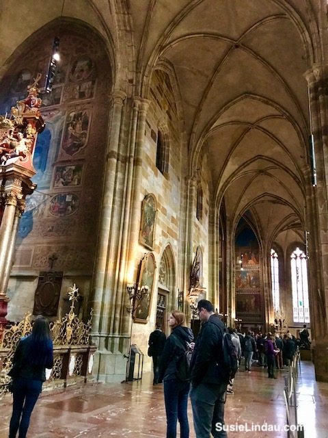 Inside St. Vitrus in Prague