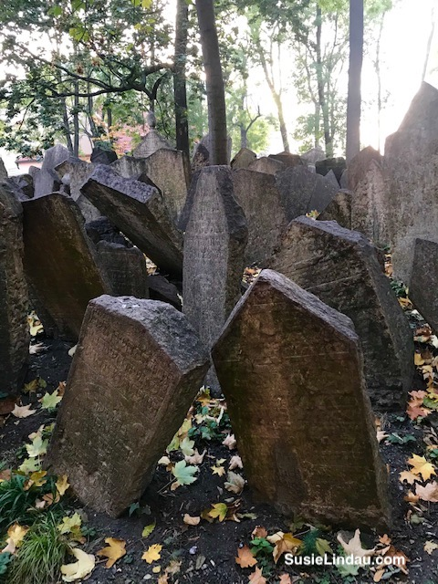 Lots of gravestones in Jewish cemetery