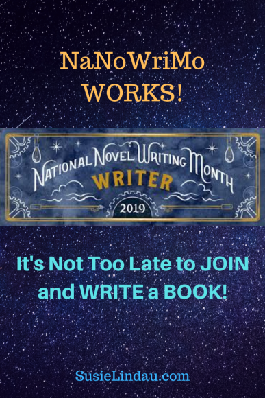 NaNoWriMo WORKS! It's Not too Late to Join and Write a BOOK!