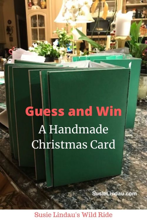 Guess and Win a Handmade Christmas Card! Click to enter. Christmas traditions | DIY | Homemade Christmas cards #Christmascards #handmadechristmascards #Christmastraditions #contest