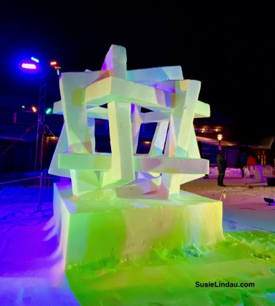 Square Dance Vermont snow sculpture Breckenridge Geometric looping squares