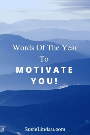 Words Of The Year to Motivate You! Pin for pinterest